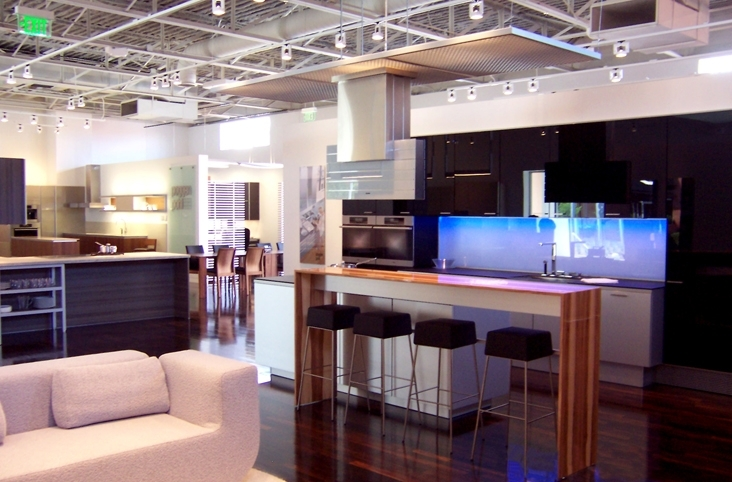 Poggenpohl showroom wdg architecture planning interiors for Showroom for kitchen designs