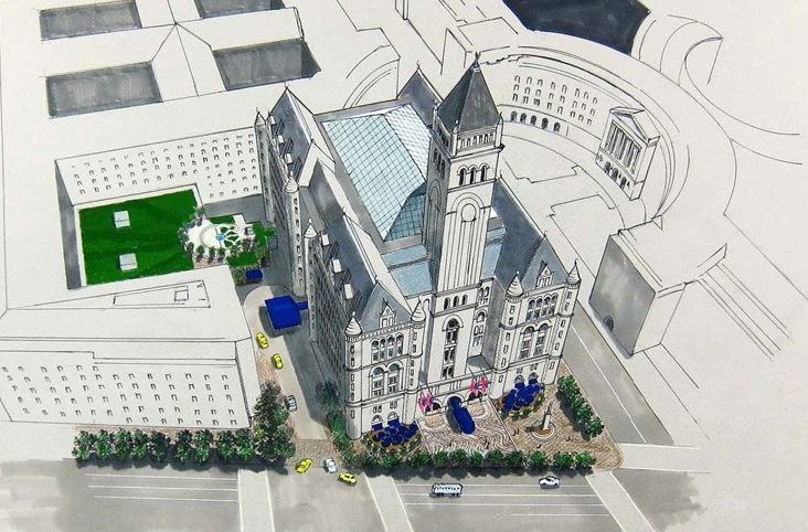 Trump international hotel at the old post office building for Design hotel washington dc